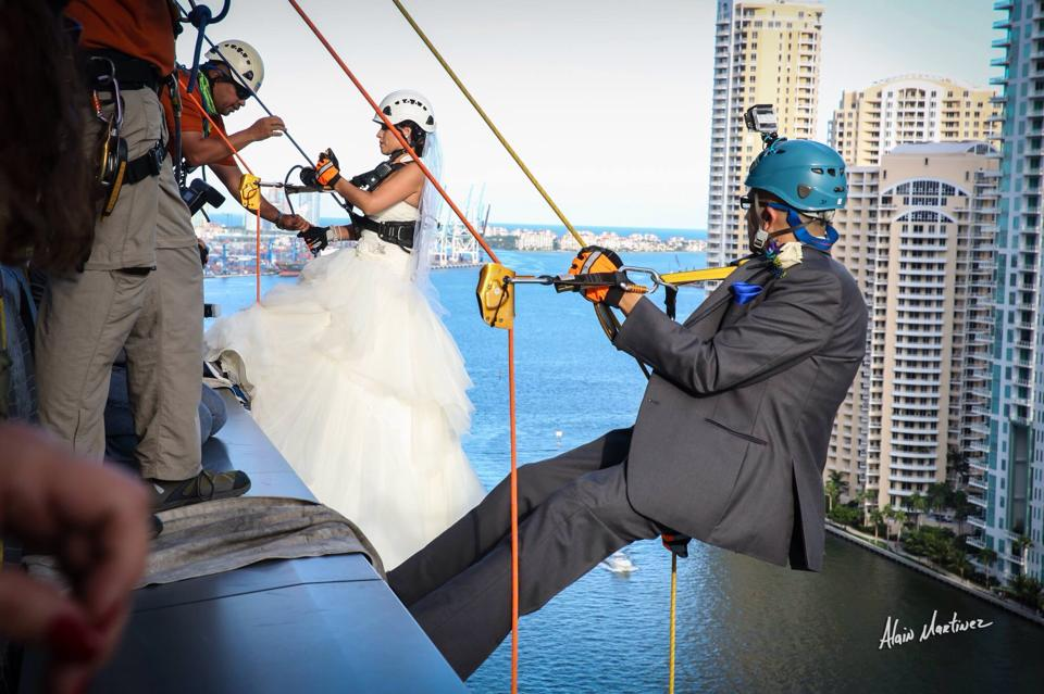 HaselB Over the Edge Wedding Miami 4